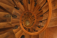 Upside view into the spiral in France
