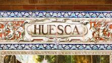 Huesca written on azulejos