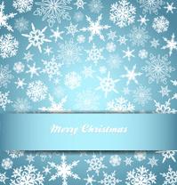 Snowflakes - Snowflake Christmas Card, Background