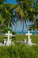 graveyard in caye caulker belize