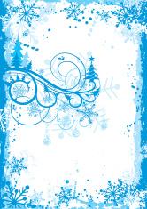Christmas grunge floral frame