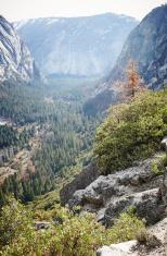 Yosemite valley in the haze
