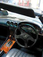 cars - inside a Mercedes sports car