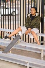 Waiting Skateboarder