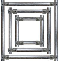 Scaffold frame design element | square version