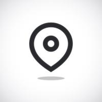 Vector black map pointer icon