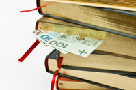 books and money isolated