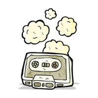 cartoon dusty old cassette tape