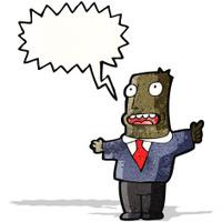 cartoon shouting boss
