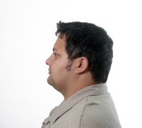 Mid thirties Man head and shoulders profile