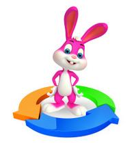 Easter Bunny with circular graph