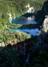Plitvice lakes and waterfalls in Croatia
