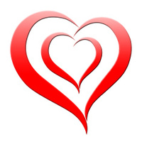 Background Heart Shows Valentine's Day And Abstract