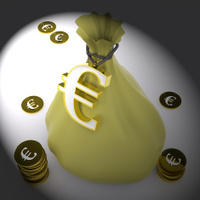 Euro Bag Means European Wealth Or Money