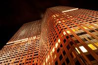 modern highrise at night