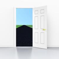 Long Road Indicates Door Frames And Doorframe