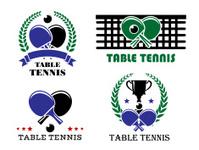 Ping-pong and table tennis symbols