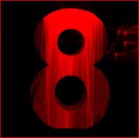 Laser lit Number 8