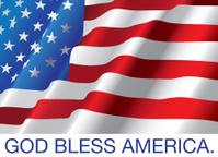 God Bless America with USA flag
