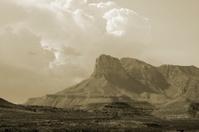 Sepia Southwest Landscape.