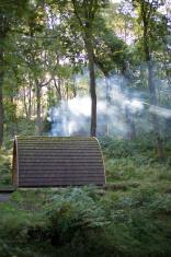 Camping Pod under God Rays