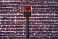 Don't walk on a brick wall