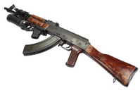 Kalashnikov with GP-25 grenade launcher