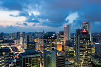 Twilight business city Singapore