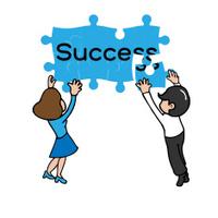 Business team jigsaw