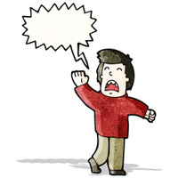 cartoon man shouting