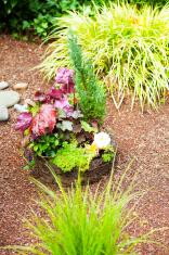 Flower decoration on grave