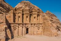 The Monastery (Al Deir) in Nabatean city of  Petra Jordan