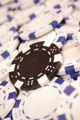 lonely black poker chip