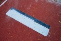 Long jump plate closeup