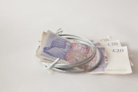 pounds tied up with wire