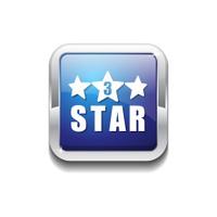 3 Star Blue Vector Icon Button
