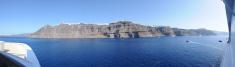 Santorini Fira view from a cruise ship