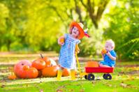 Beautiful kids at pumpkin patch