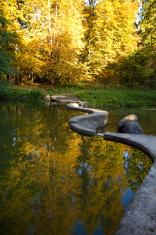 golden autumn on the lake.