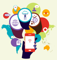 Mobile phone device seo optimization. Business concept