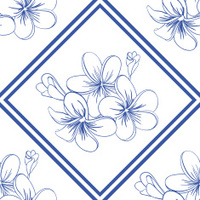 Beautiful Plumerias Seamless Pattern