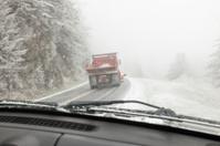 Salt Truck in Bad Weather