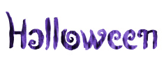 Halloween magic watercolor typography