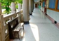School corridor closeup