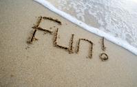 Fun Written On The Sand