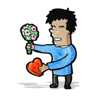 cartoon man romantic man