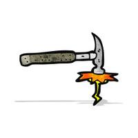 cartoon hitting hammer