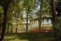 Palacio de Cristal in the reterio park in the city Madrid