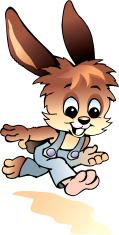 Running little hare