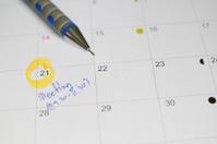 Calendar meeting plan